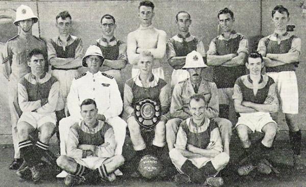 1930-31 HMS Hermes RM Football team
