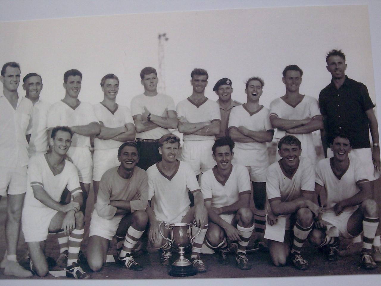 1965-66 45Cdo Football Team in Aden