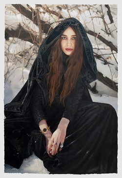 Untitled; Lizzie in the snow