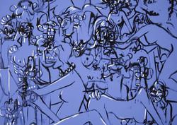 Blue Expanding Figures