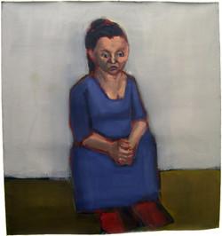 Gina with Blue Dress