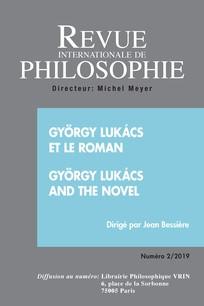 """2019: Parution du numéro """"György Lukács et le roman/György Lukács and the Novel"""""""