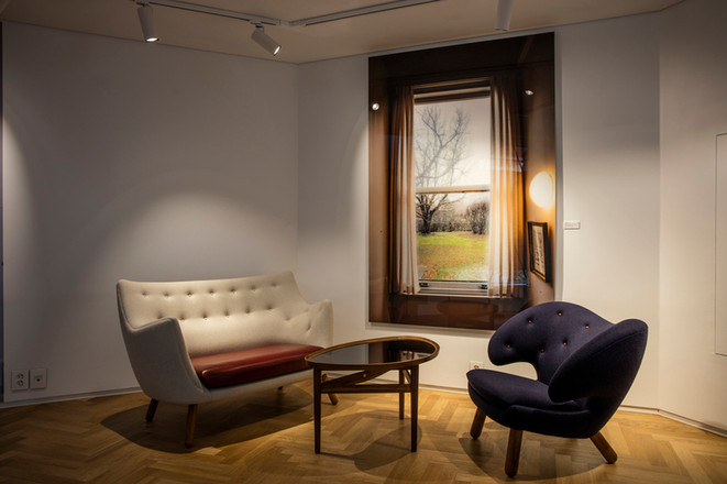 Pelican Chair, fabric, Eye Table, Poet S