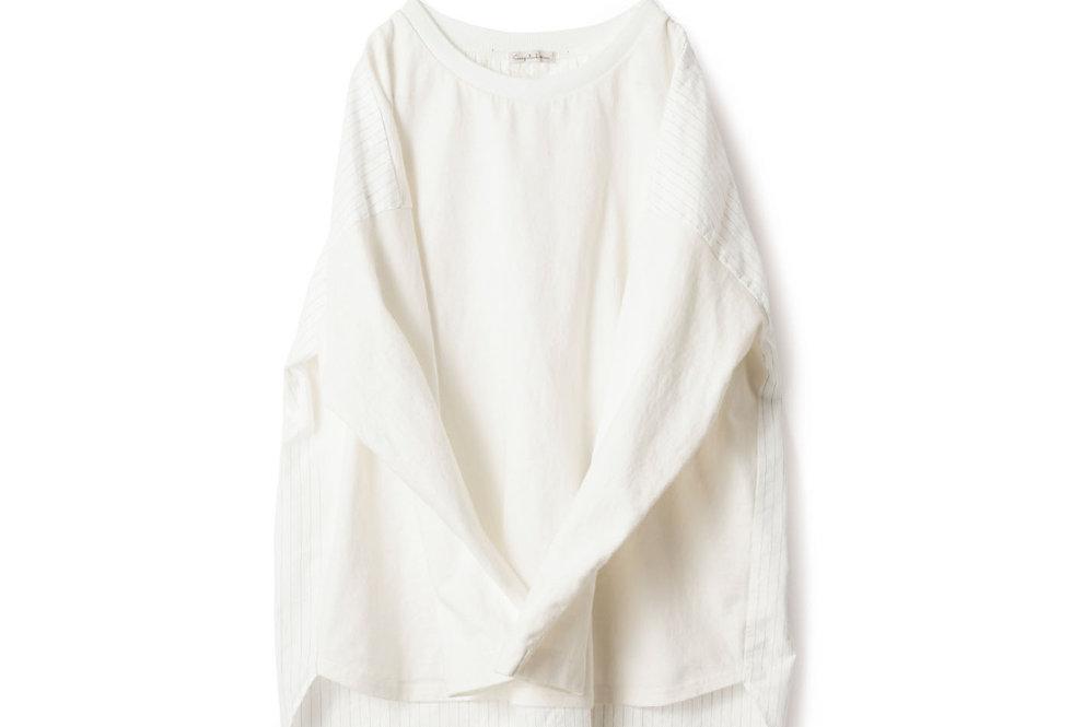 חולצת טקסטורת פסים