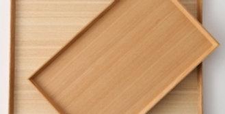 מגש עץ אשה יפני מלבן