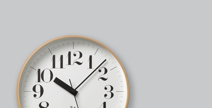 Riki wooden clock