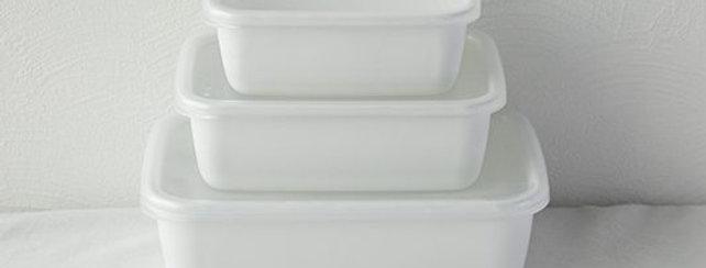 Enamel storage boxes