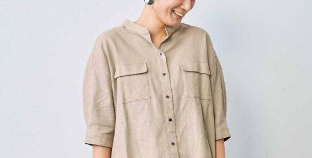 חולצת פשתן ריון מחוספסת