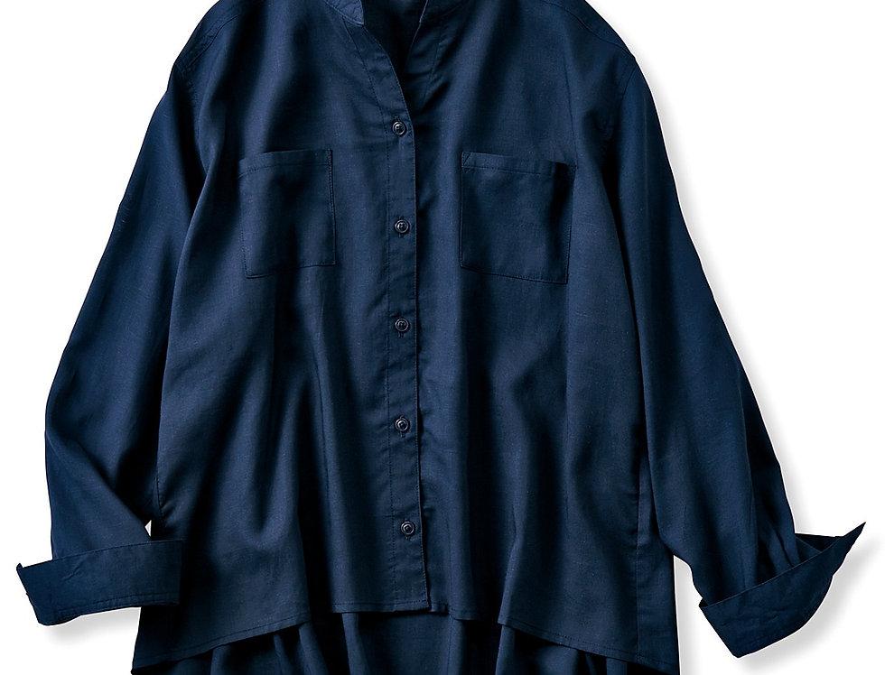 חולצת בלנד פשתן - נייבי