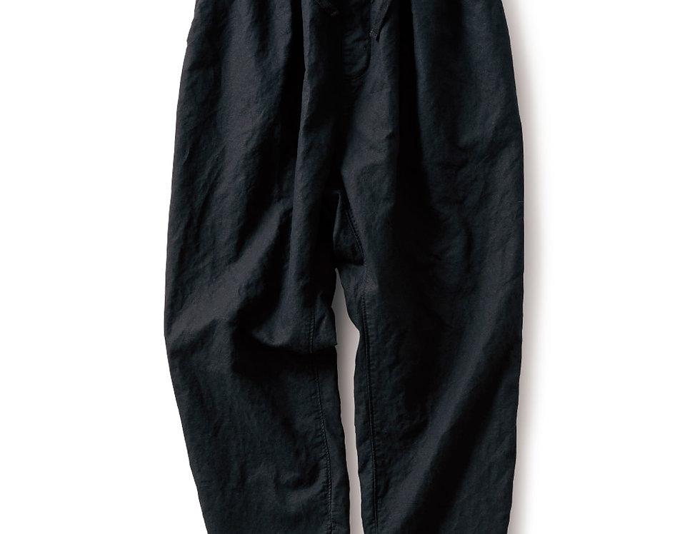 מכנסי כותנה-פשתן - שחור