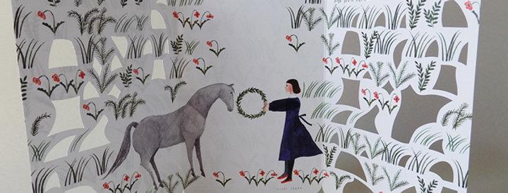 Flower Garden / כרטיס ברכה אמן