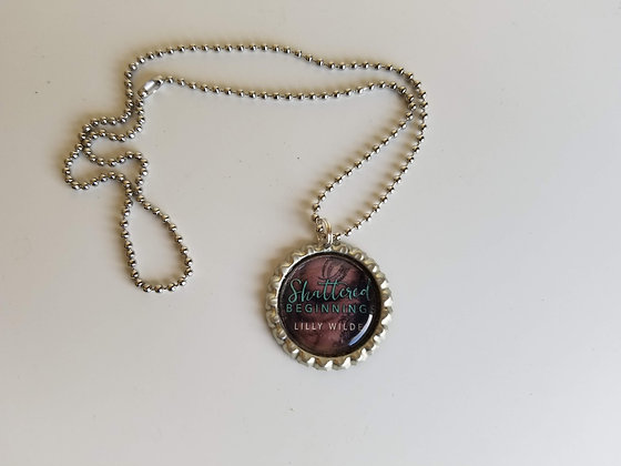 Shattered Beginnings Bottle-Cap Necklace
