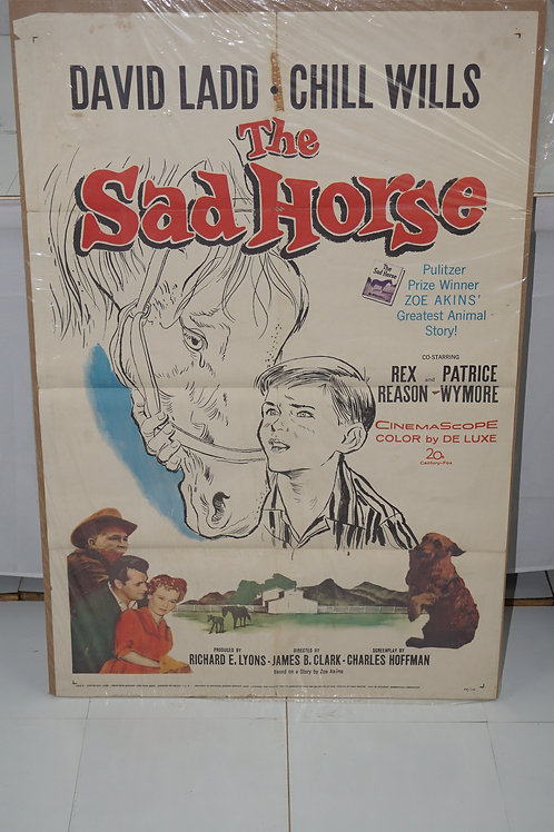1959 Movie Poster - The Sad Horse