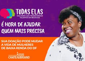 Faça sua doação: ajude mulheres de baixa renda do DF a conquistarem um futuro melhor