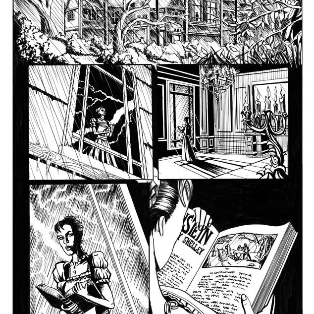 Frankenstein inks pg1