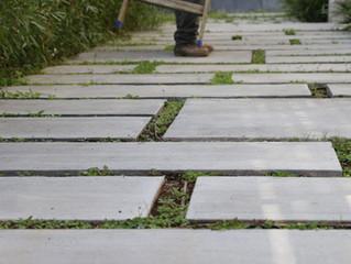 ריצוף בטון מפוקסל לגינה