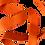 Thumbnail: Rouleau ceinture Orange Judo