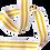 Thumbnail: Rouleau ceinture Blanche 2 liserés Jaune Judo