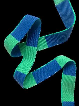 Rouleau ceinture Verte/Bleue Judo