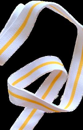 Rouleau ceinture Blanche 1 liseré Jaune Judo