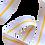 Thumbnail: Rouleau ceinture Blanche 1 liseré Jaune Judo