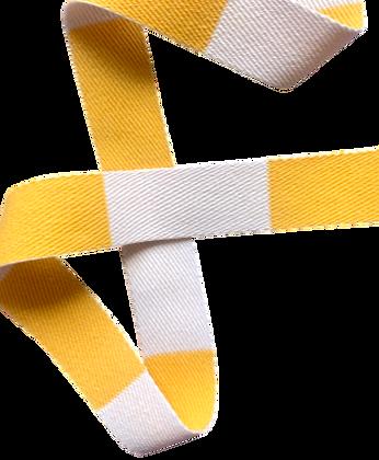 Rouleau ceinture Blanche/Jaune Judo