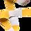 Thumbnail: Rouleau ceinture Blanche/Jaune Judo