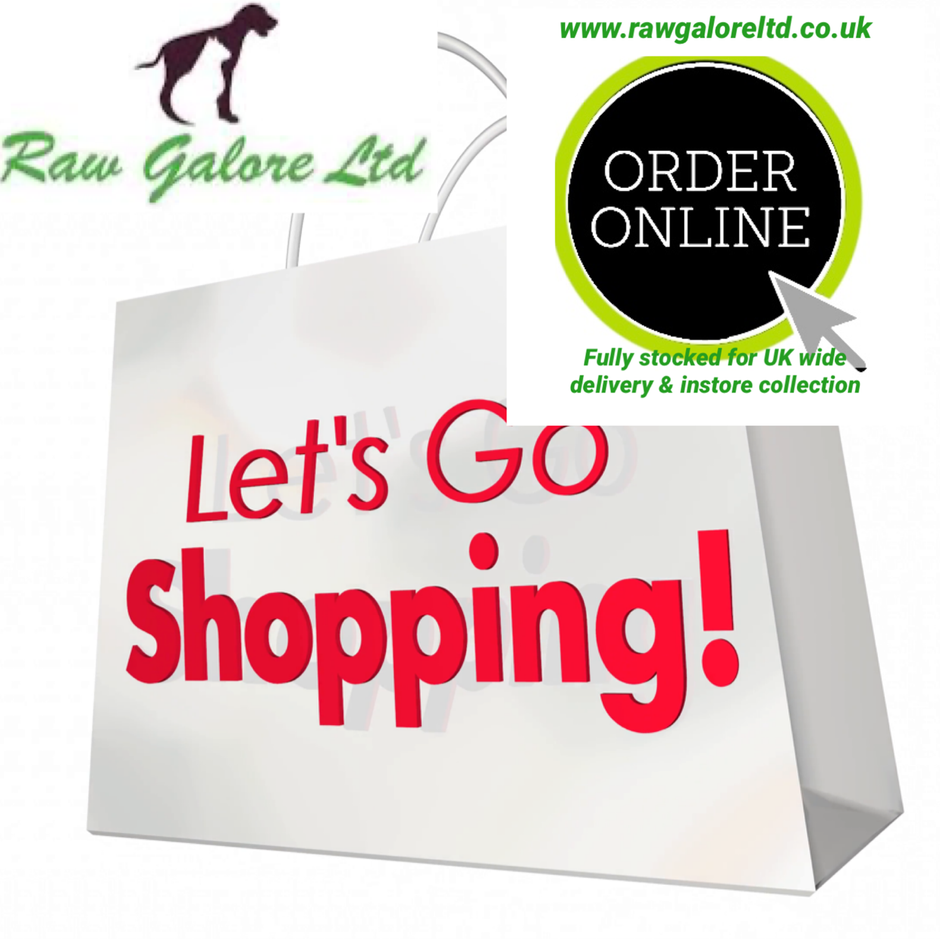 A dog's happiness is receiving their Raw Galore food order......