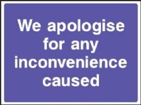 We are sorry.....