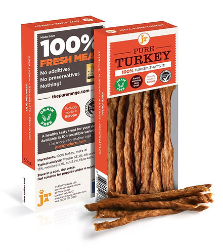 JR Pure Turkey Sticks 50g
