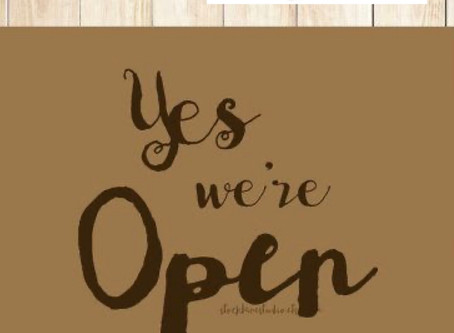We are re-open