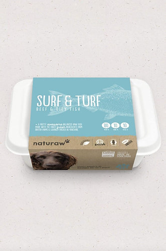 Surf & Turf – Beef & Oily Fish (500g) - Naturaw