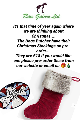 The Dogs Butcher dehydrated treats Christmas Stocking