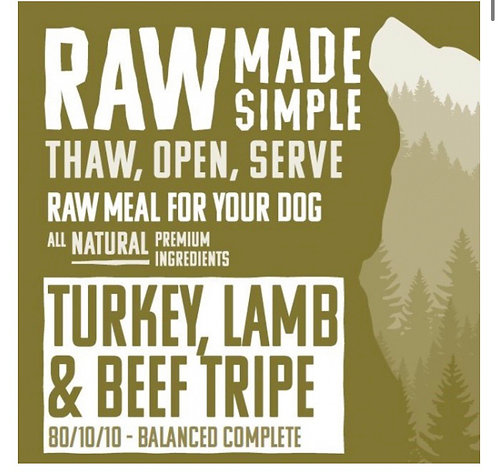 RMS Turkey Lamb and Beef Tripe Complete 500g