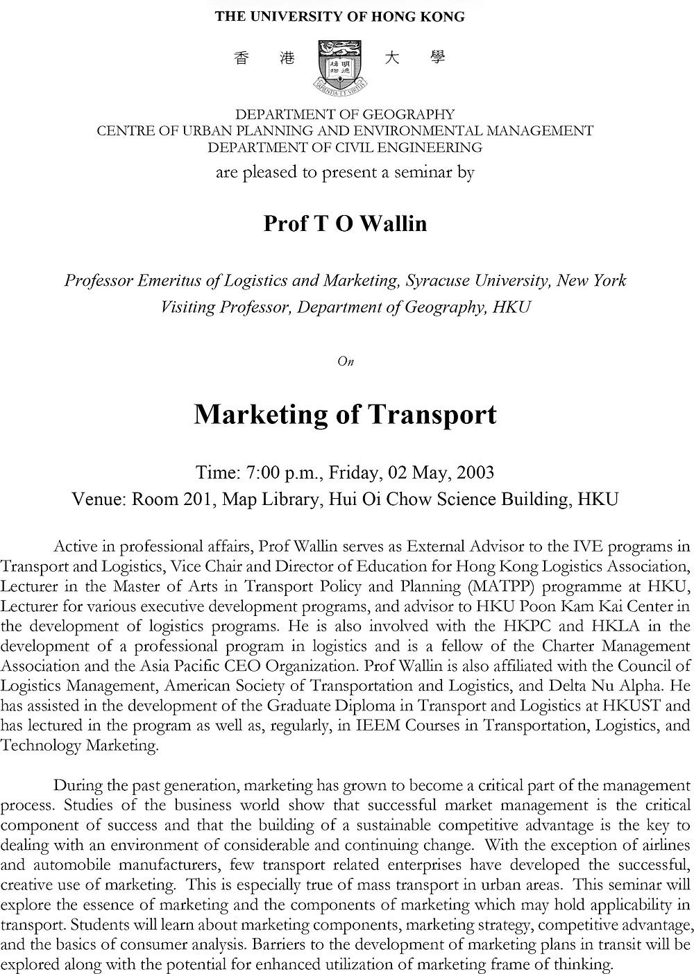 20030502 Seminar Poster