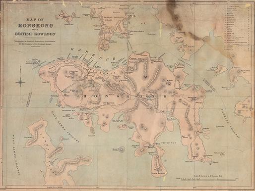 2. Map of Hong Kong with Bristish Kowloon.