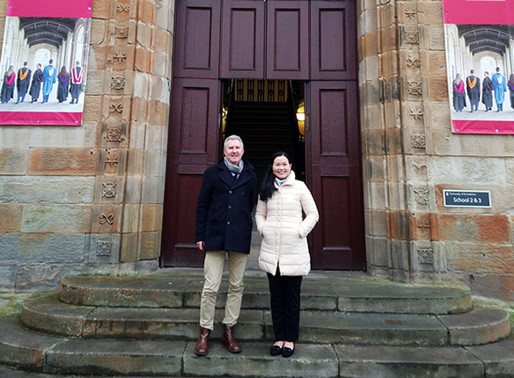 Professor Becky Loo visited the University of St Andrews in December 2019