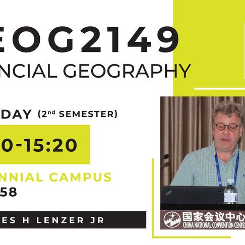 GEOG2149: Financial Geography
