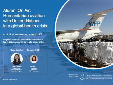 Alumni on Air: Humanitarian aviation with United Nations in a global health crisis