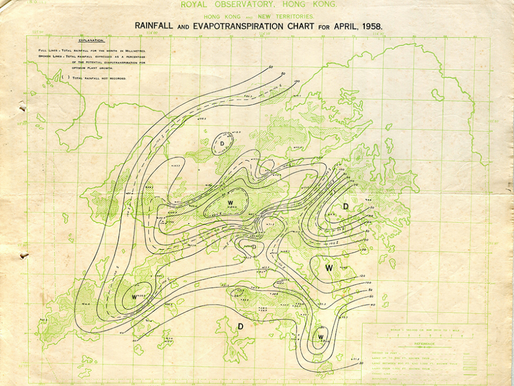 5. Rainfall and Evapotranspiration Chart for April, 1958.