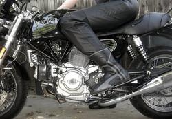 an- blck bike black boots