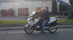 Clay on chp bike