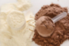 Close up of protein powder and scoops.jp