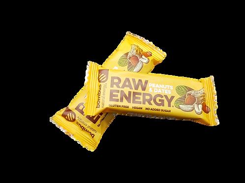 Bombus Raw Energy Riegel Peanuts & Dates 50g