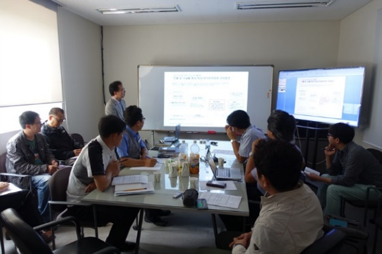 On-site BIM room coordination meeting.