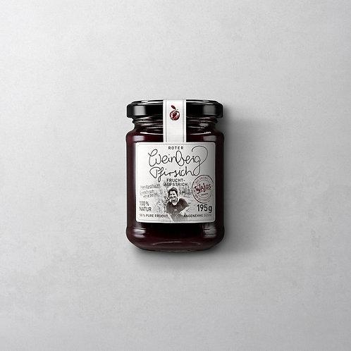 Roter Weinbergpfirsich Fruchtaufstrich | Wajos 55g