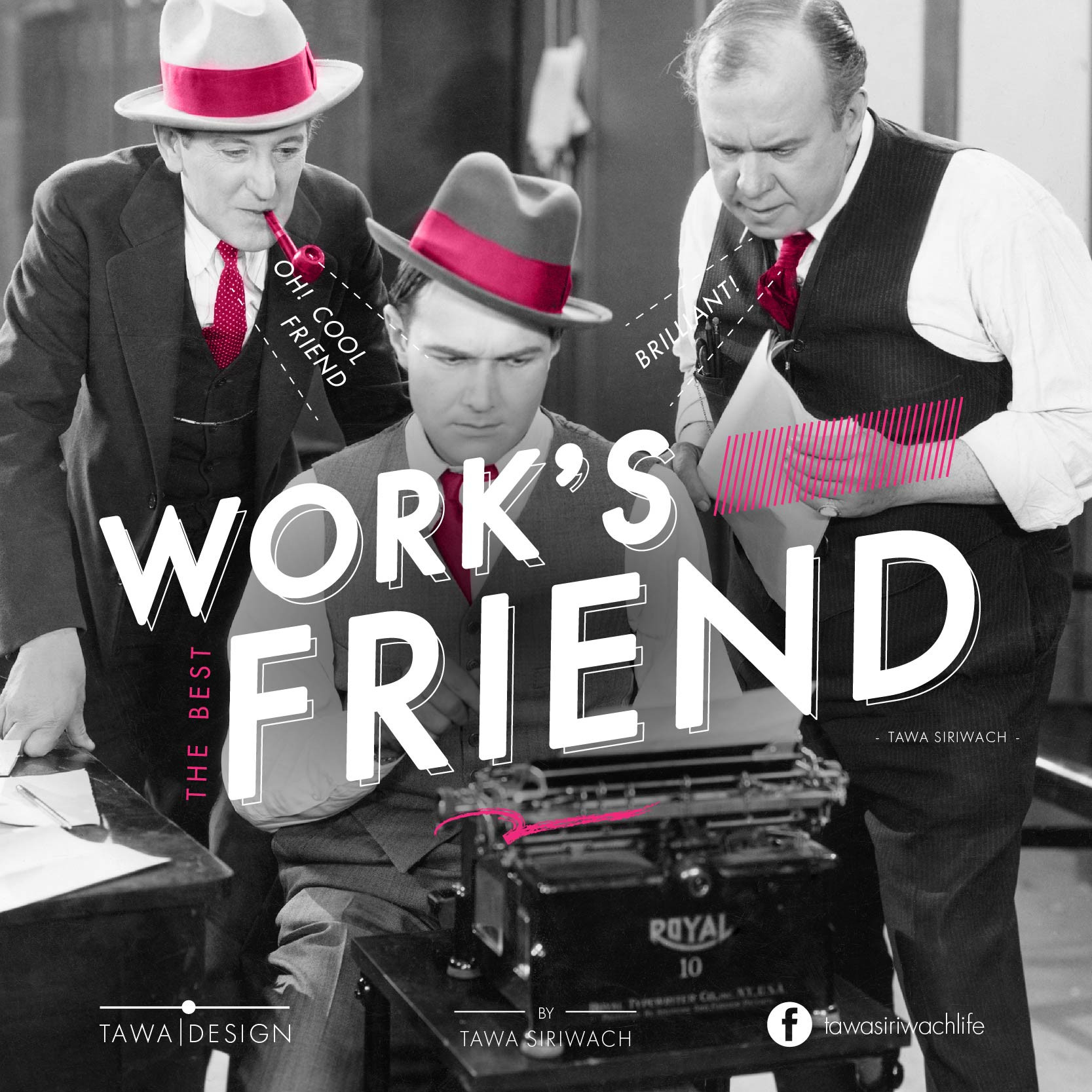Work is the best friend. When you work as much as you can,  you will understand and have fun with it more. - Tawa Siriwach -