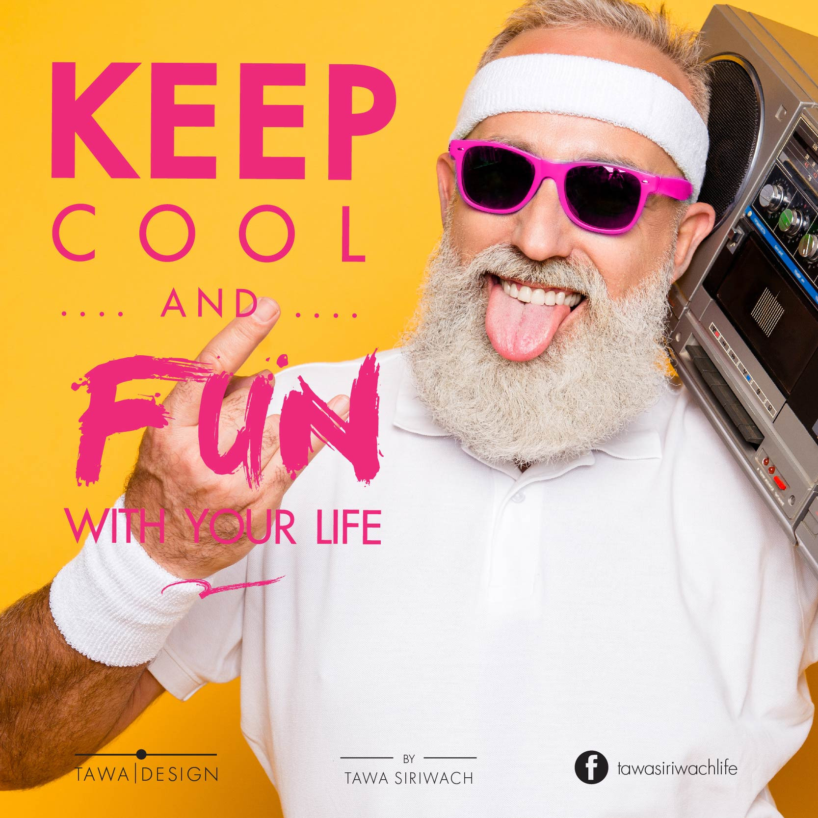 Don't shy to be cool. when you know what you do. - Tawa Siriwach -