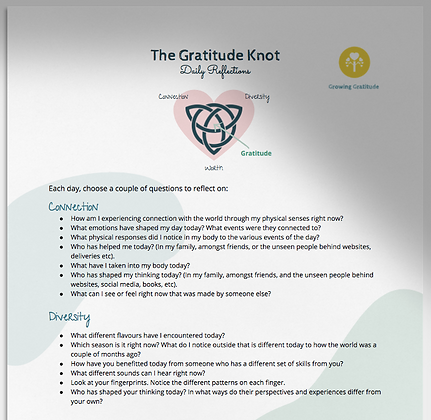 Gratitude Knot Daily Reflections