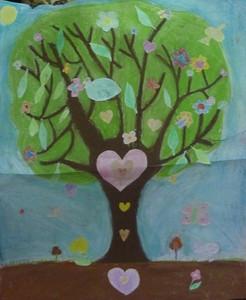 arbre de Vie - réalisation collective - art thérapie humanitaire